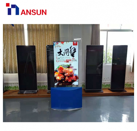 55'' Freestanding Double-Sided OLED Screen Advertising Display
